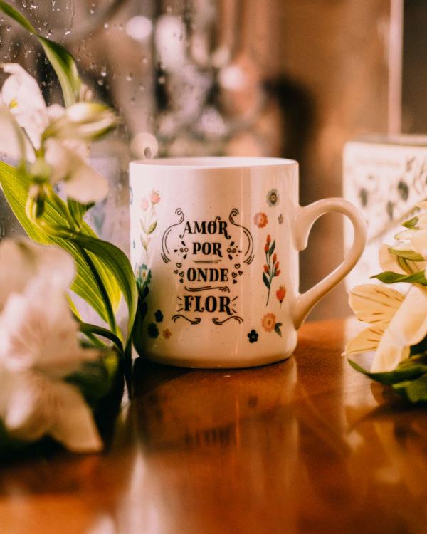 Caneca Caminhos Floridos - Café do Viajante