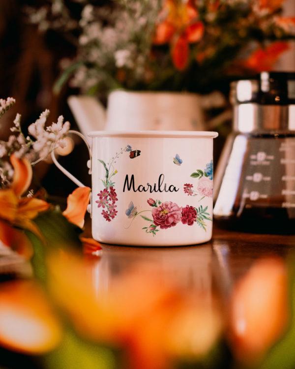 Caneca Personalizada: Felicidade - Café do Viajante