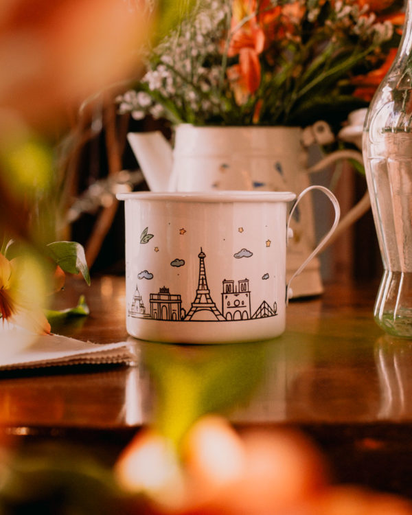 Caneca de Viagem Paris - Café do Viajante