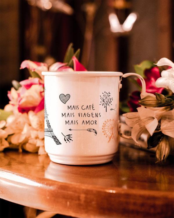 Caneca Mais Café Mais Viagens Mais Amor
